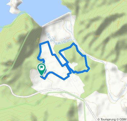 เส้นทางออกพระวรกายภายในเขื่อนวชิราลงกรณ ระยะทาง 6,840 เมตร