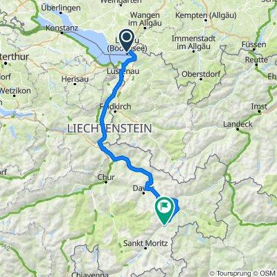 TransAlp Bodensee - Lago Como - Etappe 1