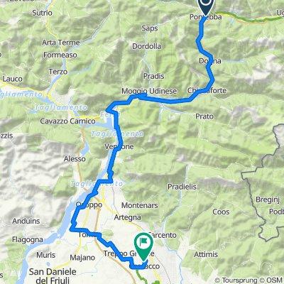 Etappe 5 - Pontebba - Cassacco 76km