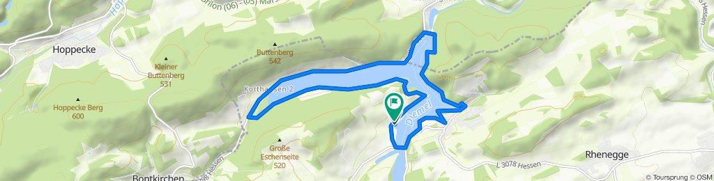 Gemütliche Route in Diemelsee