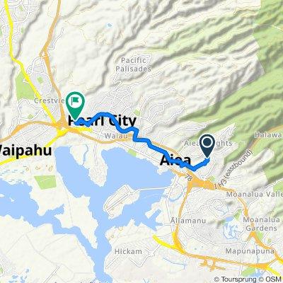 99-772 Kealaluina Dr, Halawa to 7341 Birch Cir, Pearl City