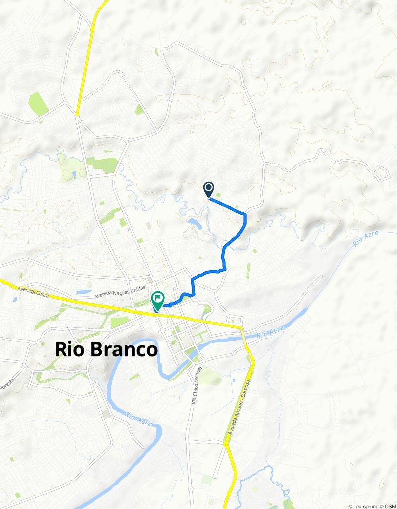 Rota constante em Rio Branco
