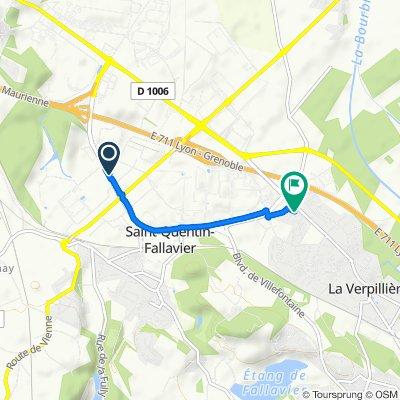 Itinéraire confortable en La Verpillière