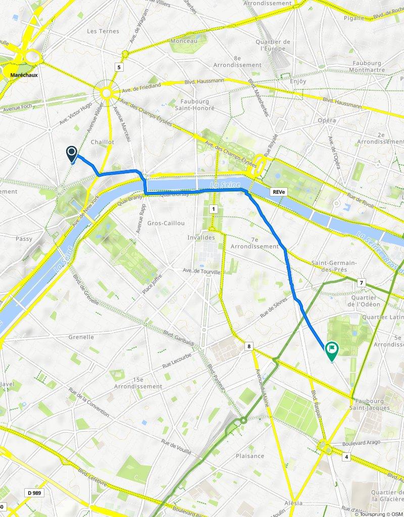 Itinéraire facile en Paris