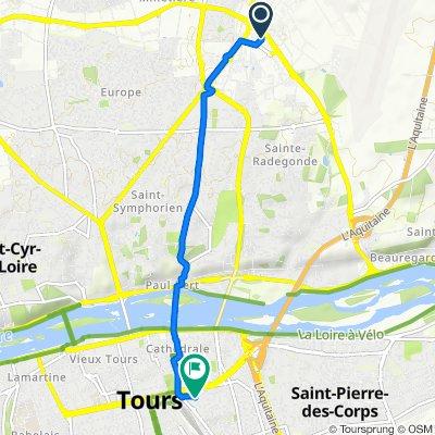 Itinéraire reposant en Tours
