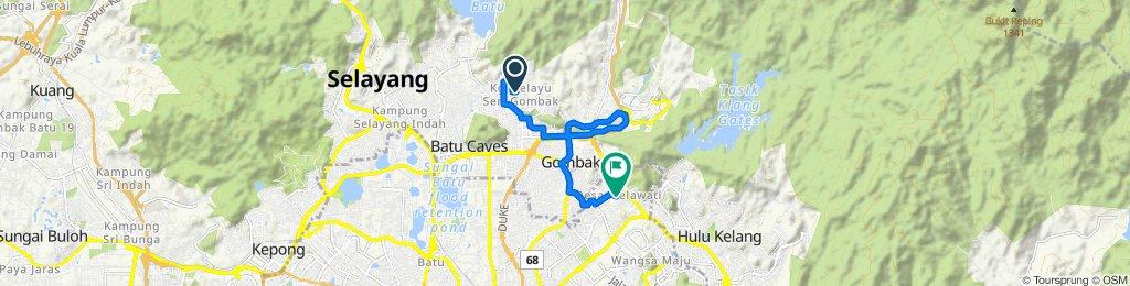 Relaxed route in Taman melati