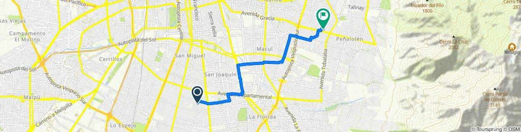 Ruta relajada en Peñalolén