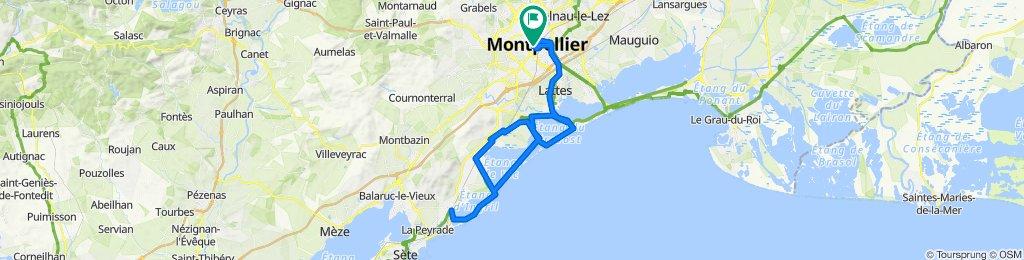 Itinéraire plage Frontignan