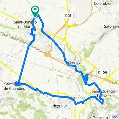 6 Rue des Hirondelles, Saint-Bonnet-de-Mure to 4 Rue des Hirondelles, Saint-Bonnet-de-Mure