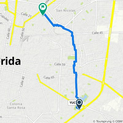 Calle 71-A 283, Mérida to Calle 23-a 262B, Mérida