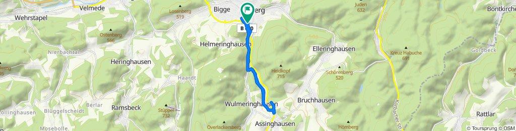 Entspannende Route in Olsberg