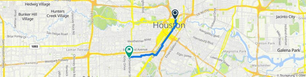 901 Commerce St, Houston to 2304 Bissonnet St, Houston