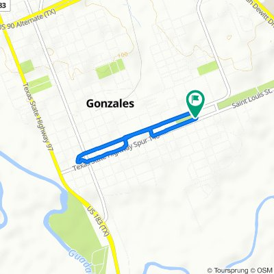 Relaxed route in Gonzales