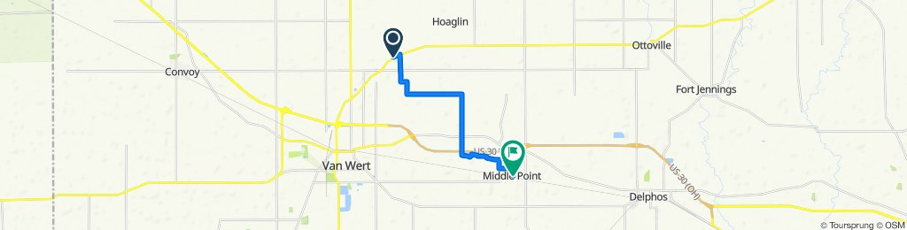 to Middle Point