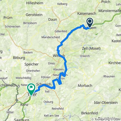 2.Etappe (So.16.) Cochem-Trier