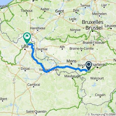 5.Etappe (Mi.19.) Lobbes-Roubaix