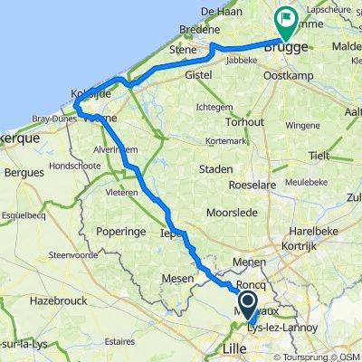 6.Etappe (Do 20.) Roubaix-Brügge