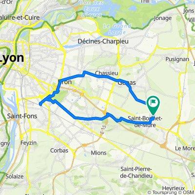 3 Place Plein Soleil, Saint-Bonnet-de-Mure to 3 Place Plein Soleil, Saint-Bonnet-de-Mure