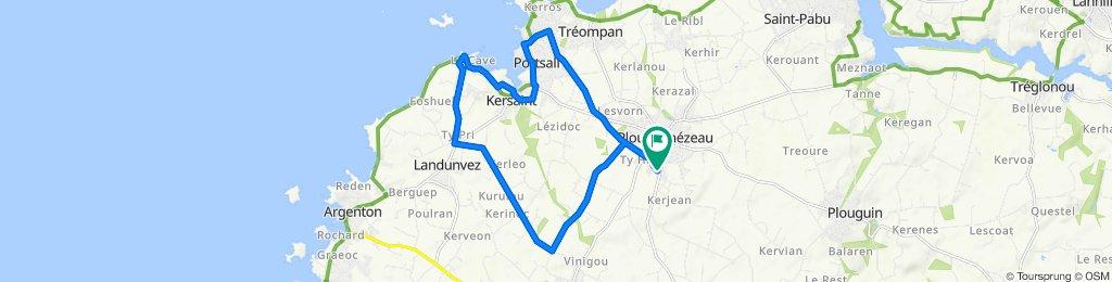 Itinéraire modéré en Ploudalmézeau