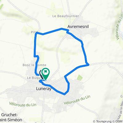 Itinéraire confortable en Luneray
