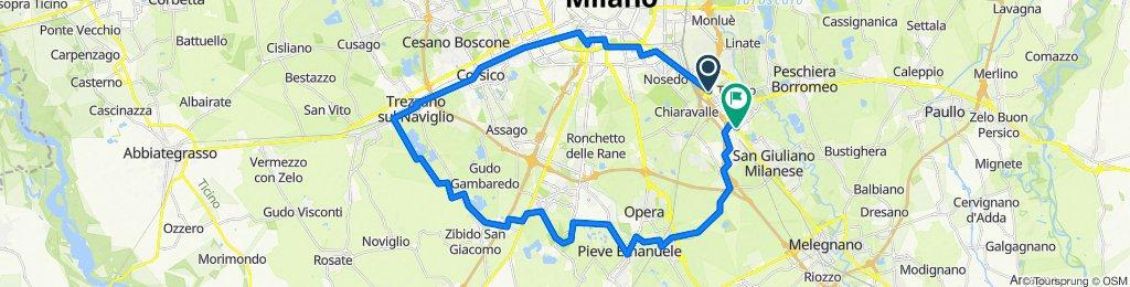 Via Emilia 46, San Donato Milanese to Via Emilia 2, San Donato Milanese
