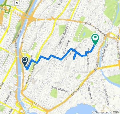 Ruta moderada en Nueva York