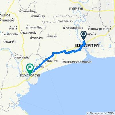 Samut Sakhon nach Samut Songkhran