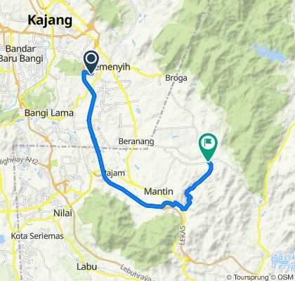 Supersonic route in Semenyih