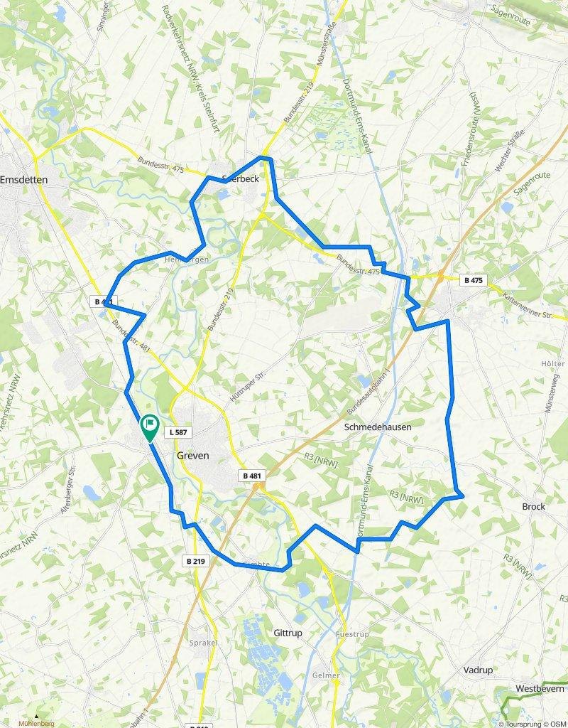 RTF Greven - Tour 1 - 49 km