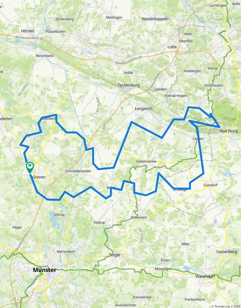 RTF Greven - Tour 3 - 120 km