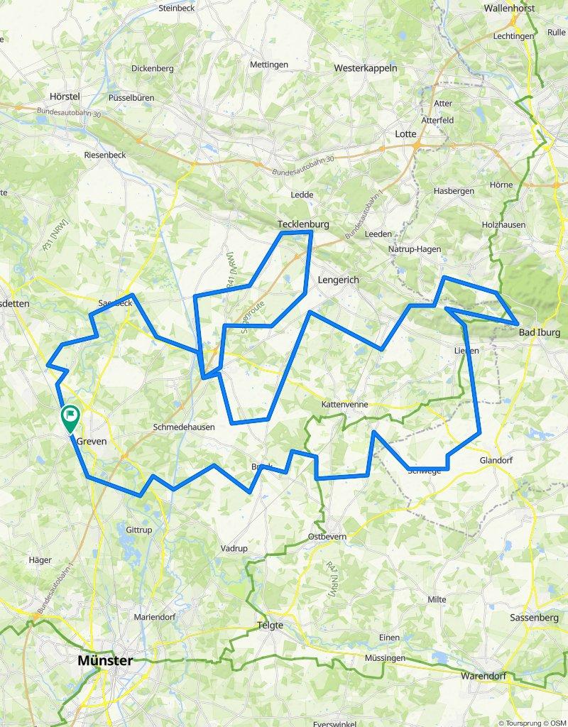 RTF Greven - Tour 4 - 152 km