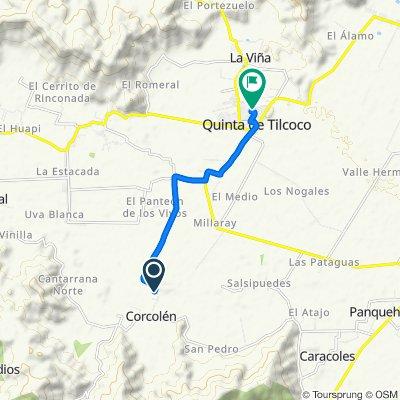 Ruta moderada en Quinta de Tilcoco