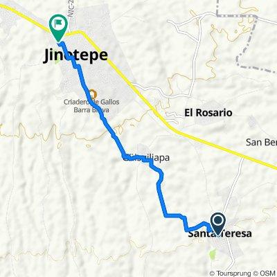 Paseo rápido en Jinotepe
