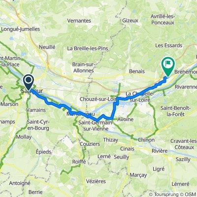 Bike trip leg 2 - Saumur to Coteaux-sur-loire