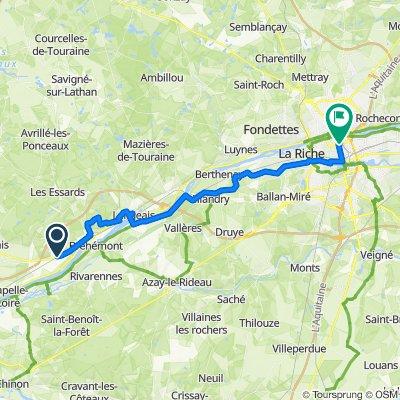 Bike trip leg 3 - Coteaux-sur-Loire to Tours