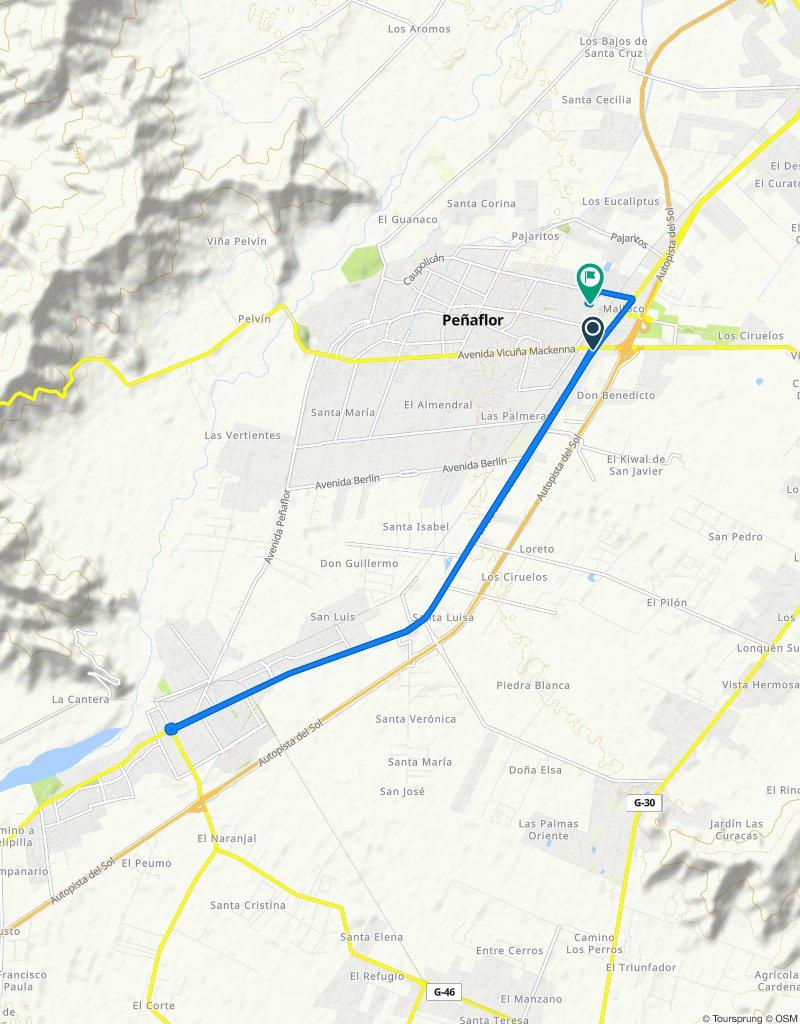 Ruta rápida en Peñaflor