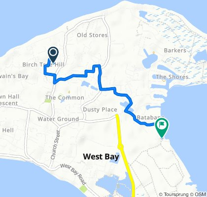 Armada Close, Cayman Islands to Garvin Road, Cayman Islands