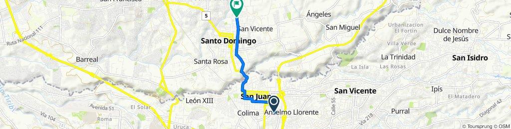 Ruta constante en Santo Domingo