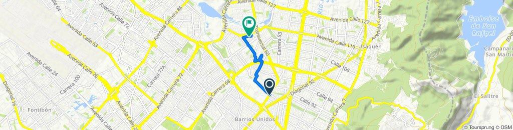 Restful route in Bogotá