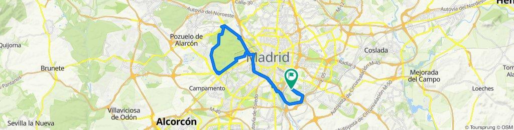Ruta constante en Madrid