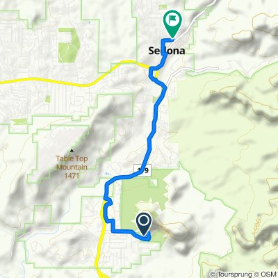 780 Chapel Rd, Sedona to 288–378 Mountain View Dr, Sedona