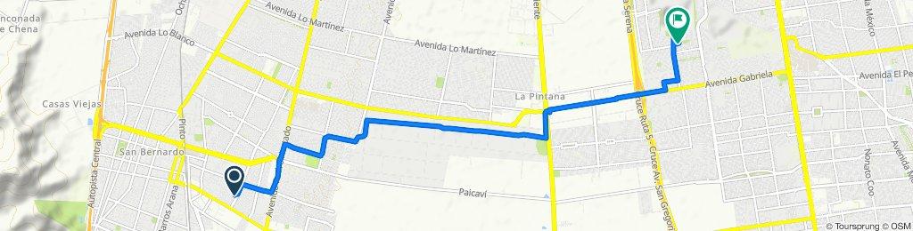 Lago Caburga 15424–15626, San Bernardo to Pasaje Cabo Kendall 1720–1788, Puente Alto
