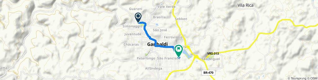 Rota repousante em Garibaldi