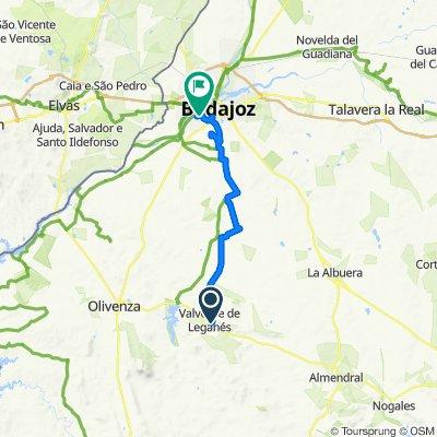 Ruta rápida en Badajoz