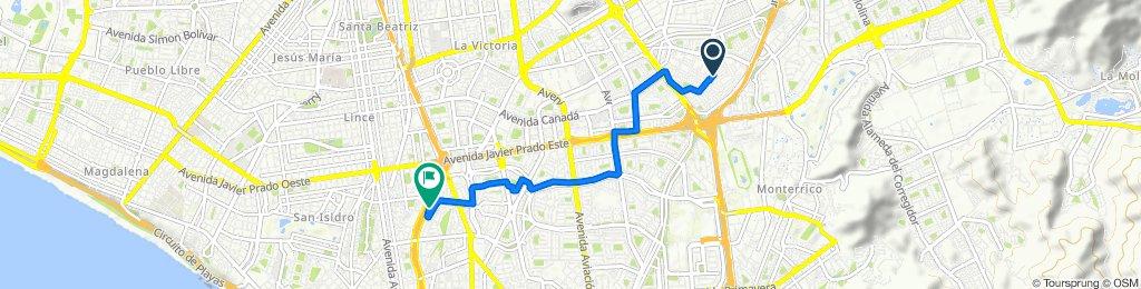 Ruta constante en San Isidro