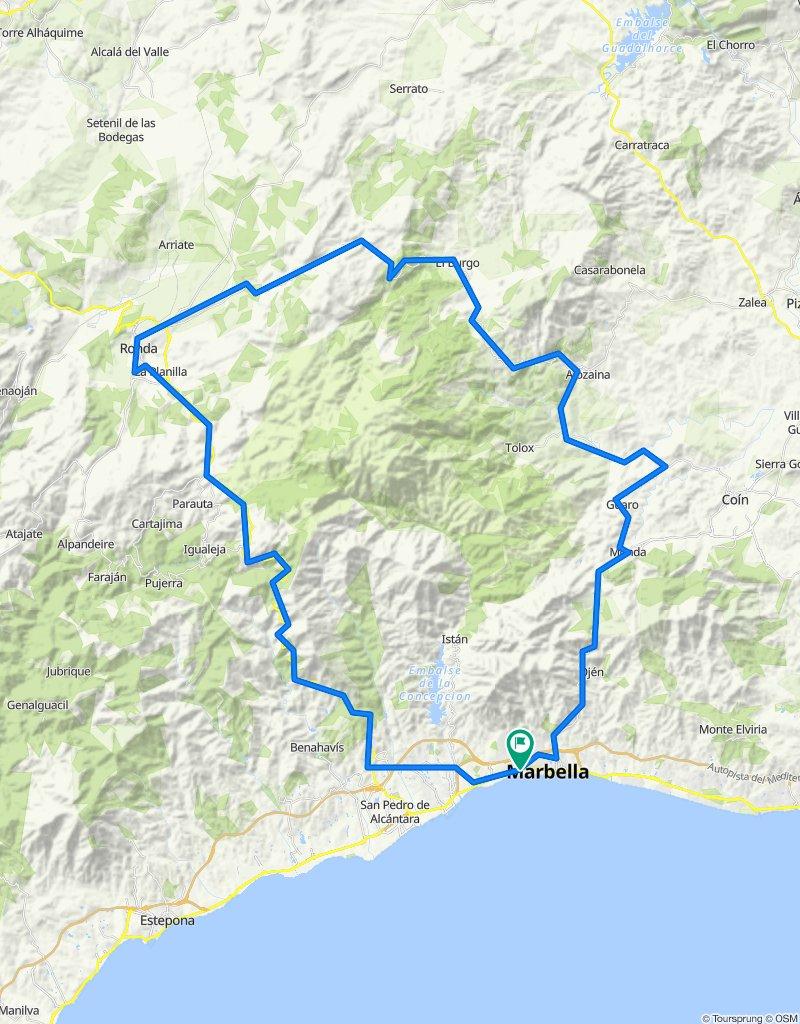 Marbella - Ojen - Monda - Burgos - Ronda