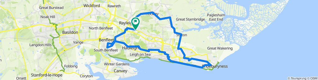 sport relief cycle route