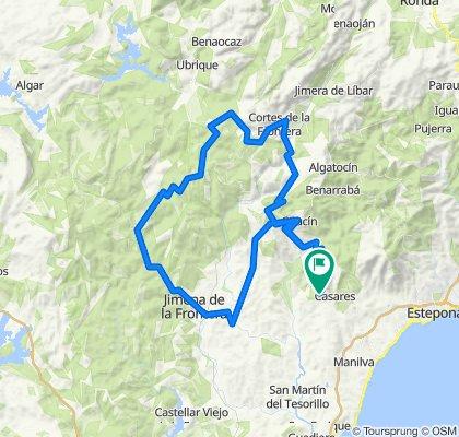 Caseres-Gaucin-Cortes de la Frontera-Jimena de la Frontera