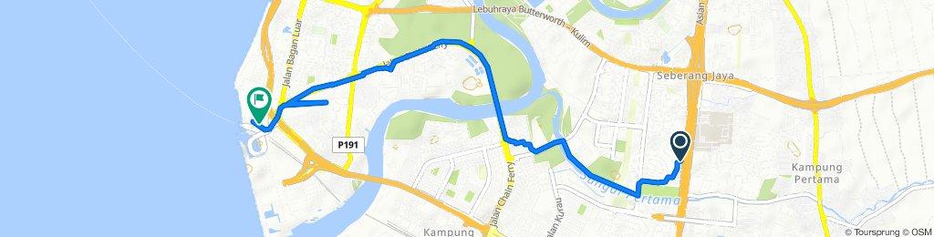 Slow ride in Seberang Jaya to Penang Sentral