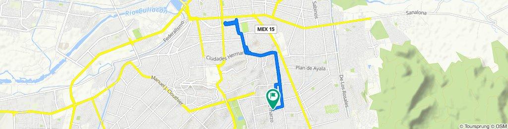 Ruta constante en Culiacán Rosales